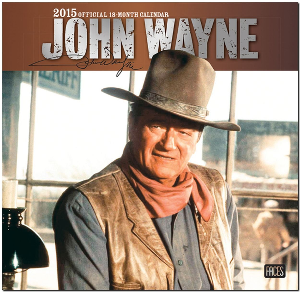 John Wayne 2015 Square 12x12 Faces (ST-Silver Foil) (Multilingual Edition)