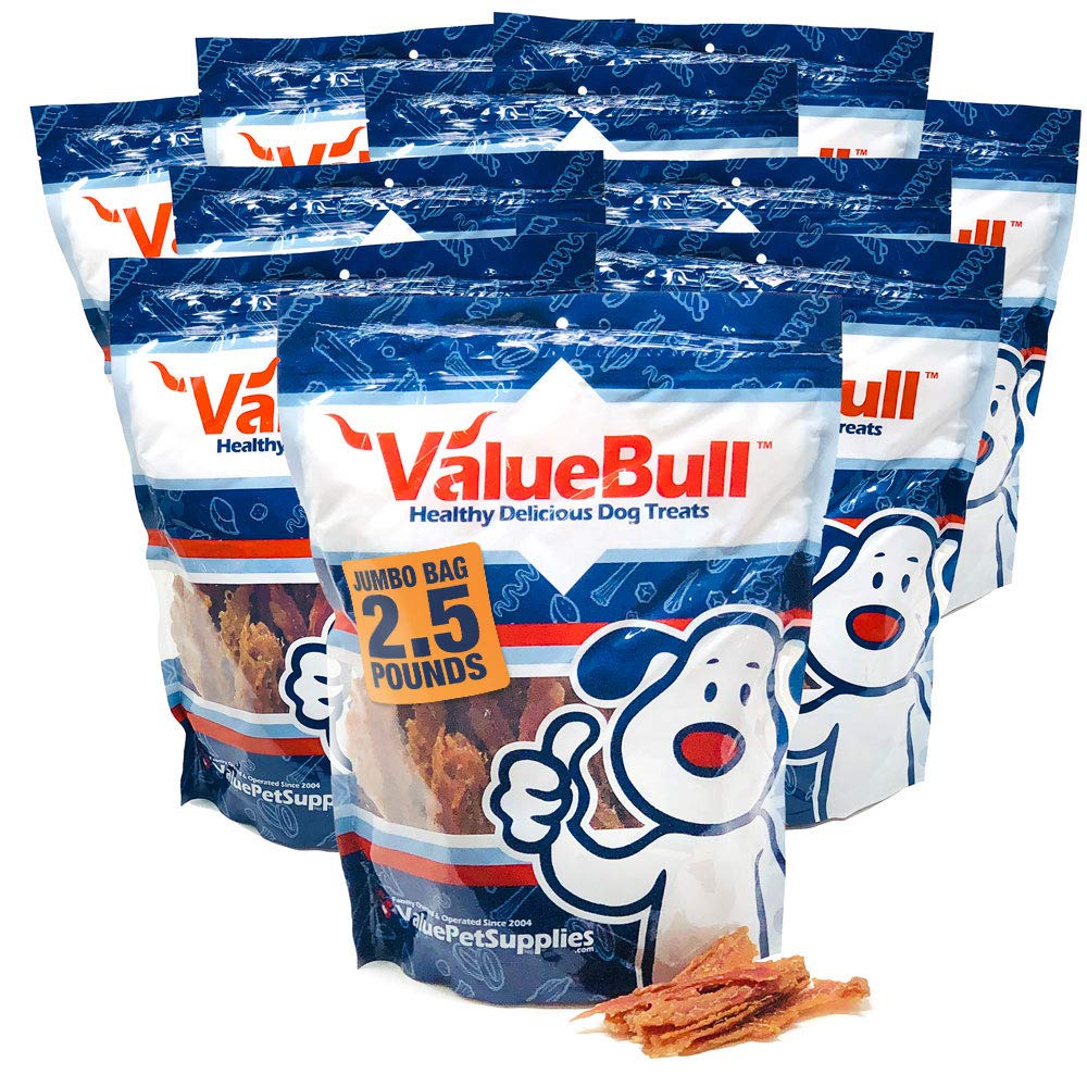 ValueBull Duck Breast Jerky Fillets for Dogs, 25 Pound