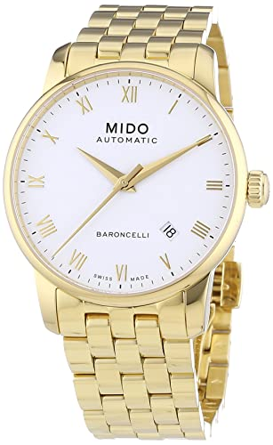 68a77e540802 MIDO Baroncelli Ii 38mm M86003261 - Reloj de caballero automático ...