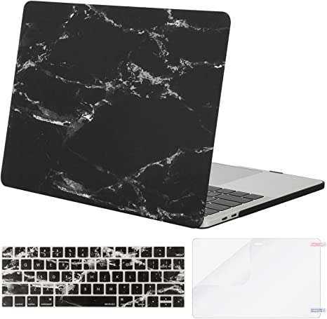 Plastic Pattern Hard Shell /& Keyboard Cover /& Screen Protector Compatible with MacBook Pro 15 Touch Bar MOSISO MacBook Pro 15 inch Case 2019 2018 2017 2016 Release A1990 A1707 White Marble