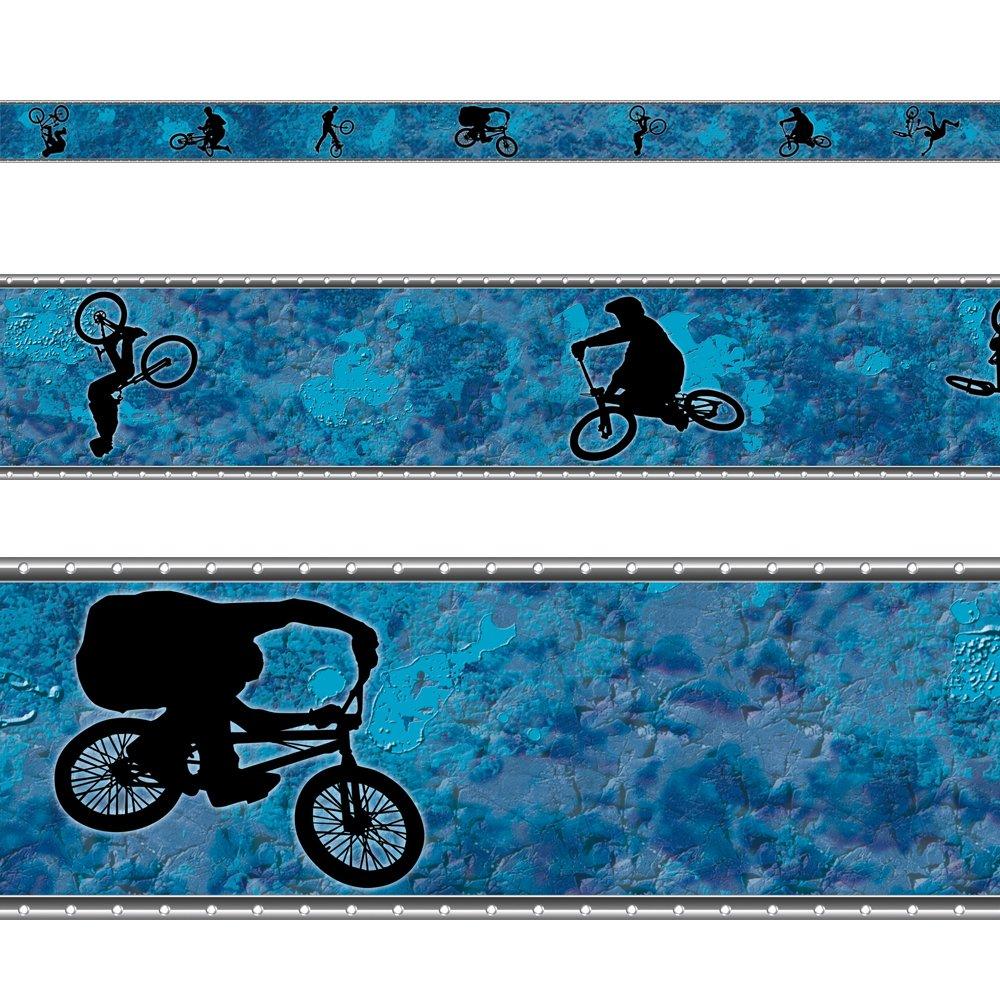 RASCH Borte Bordüre Kinder- und Jugendzimmer 246704 Fahrrad BMX ...