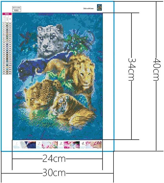 WOBANG DIY 5d Diamant Painting Totalmente Strass imágenes Arte de artesanía para salón decoración Animal Perro Leopard dragón Personas: Amazon.es: Juguetes y juegos