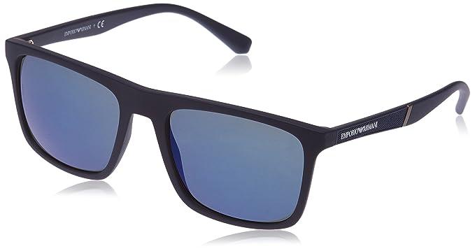 Emporio Armani 0EA4097, Gafas de Sol Unisex-Adulto, Matte Blue, 56