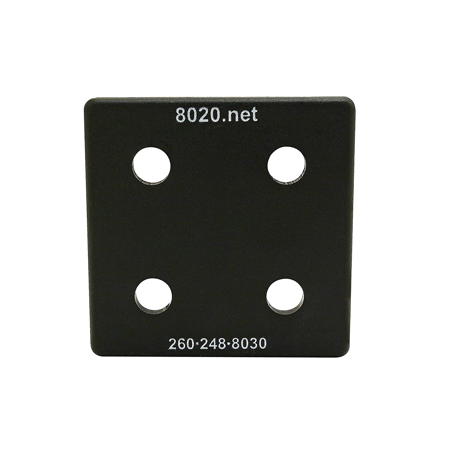 25 Pack 10 Series with Push-Ins 2020 End Cap 80//20 Inc Black 2028