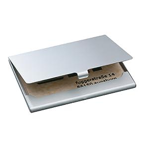 Sigel VZ135 Étui pour carte de visite, jusqu'à 15 cartes, 9,1 x 5,6 cm, argent