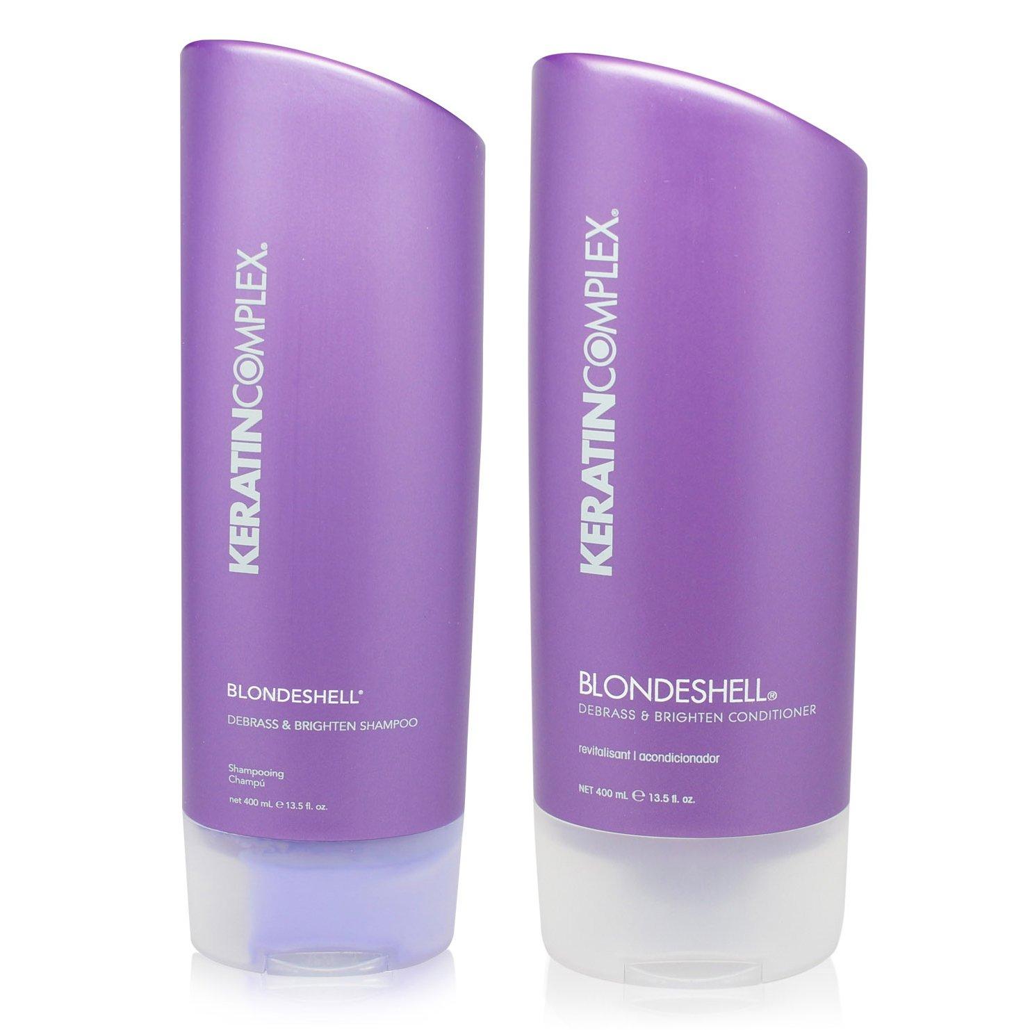 Keratin Complex Blondeshell Debrass & Brighten Shampoo And Conditioner Duo 13.5 oz