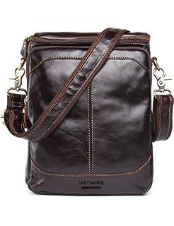 f2ffbe6bee5c Contacts Genuine Leather Men Messenger Crossbody Shoulder Bag Small Travel  Handbag