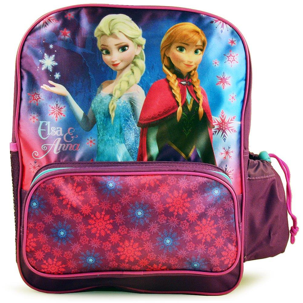 Disney Frozen Deluxe Anna and Elsa Backpack [Purple]   B00PB1EPZO