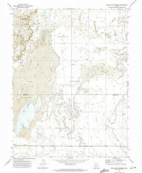 Amazon.com : YellowMaps Baker Hot Springs UT topo map, 1:24000 Scale ...