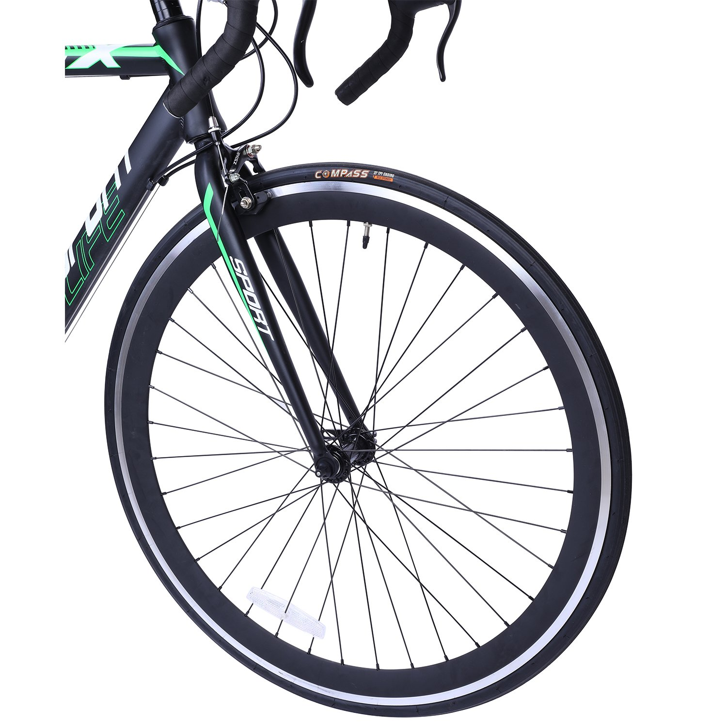 Road Bike Aluminum Commuter Bike Shimano 21 Speed 700c x 25c Racing Bicyle Sport Life Black 58cm by Gr8 Sport + Life (Image #4)