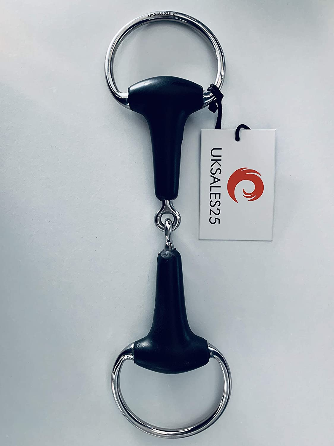 4.5 UKSALES25 Eggbutt Single Jointed Snaffle Bit with Rubber Horse Bits