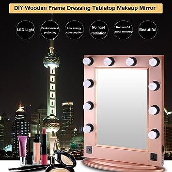 Amazoncom Simoner Hollywood Lighted Makeup Vanity Mirror