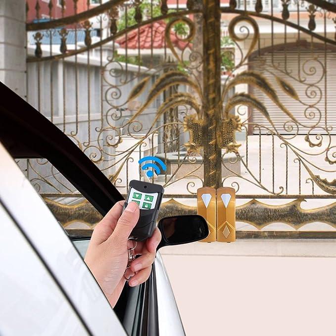 Abridor de Puerta Kit Motor Puerta Corredera Motorización con 2 Mandos a Distancia para Doble Puerta Batiente, Gran Angular de 0-180 Grados: Amazon.es: Bricolaje y herramientas