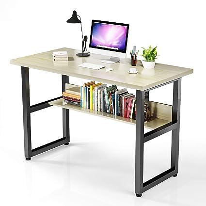 VIPEK Escritorio de computadora con estantería de Escritorio con ...