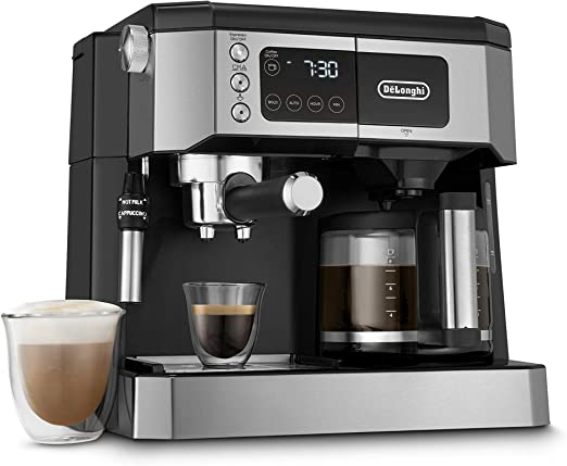 DeLonghi Espresso Pump /& Drip 10 Cup Coffee Maker Machine With Glass Carafe