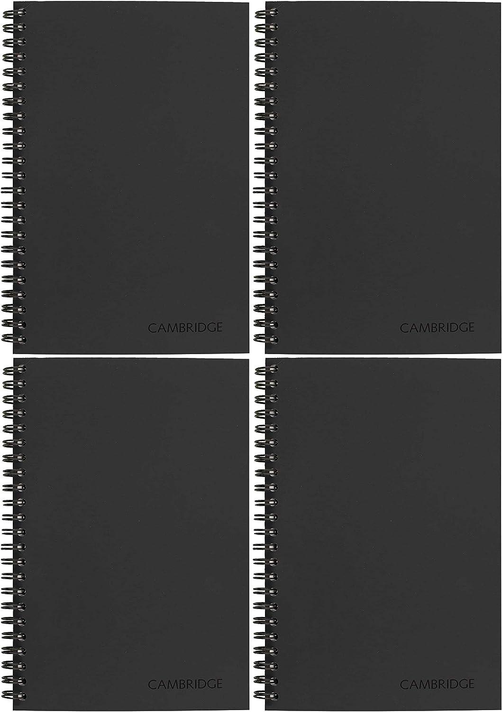 06074 Cambridge Business Notebook Twо Расk Wirebound 4 7//8 x 8 Black Legal Ruled
