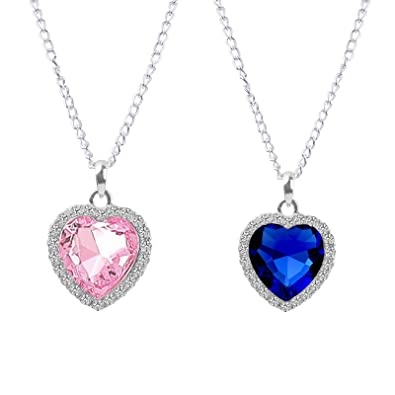 Free shipping 7 12 days fasherati blue pink crystal heart titanic free shipping 7 12 days fasherati blue pink crystal heart titanic pendant for aloadofball Image collections