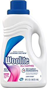 Woolite All Clothes Liquid Laundry Detergent, 33 Loads, 50 Fl Oz, Gentle Cycle, Regular & HE Washers,sparkling falls scent, packaging may vary