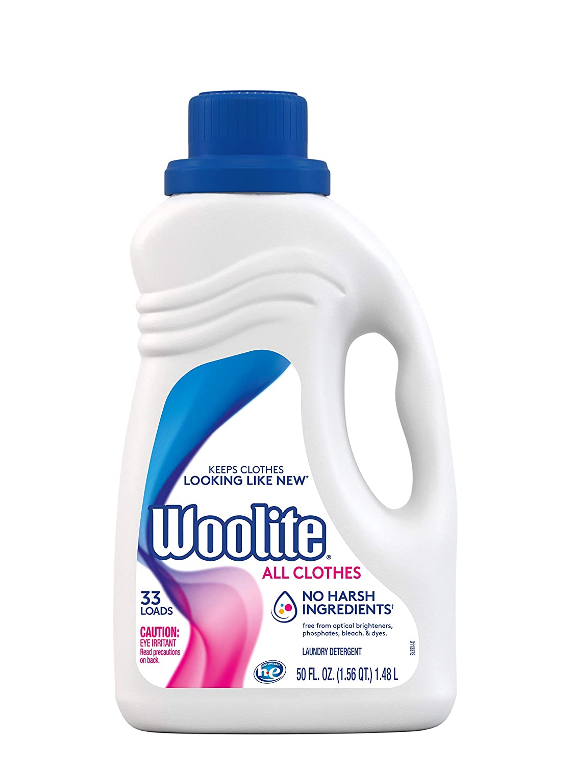 Woolite Clean & Care Liquid Laundry Detergent, 33 Loads, 50oz, Regular & HE Washers, Gentle Cycle, sparkling falls scent,packaging may vary