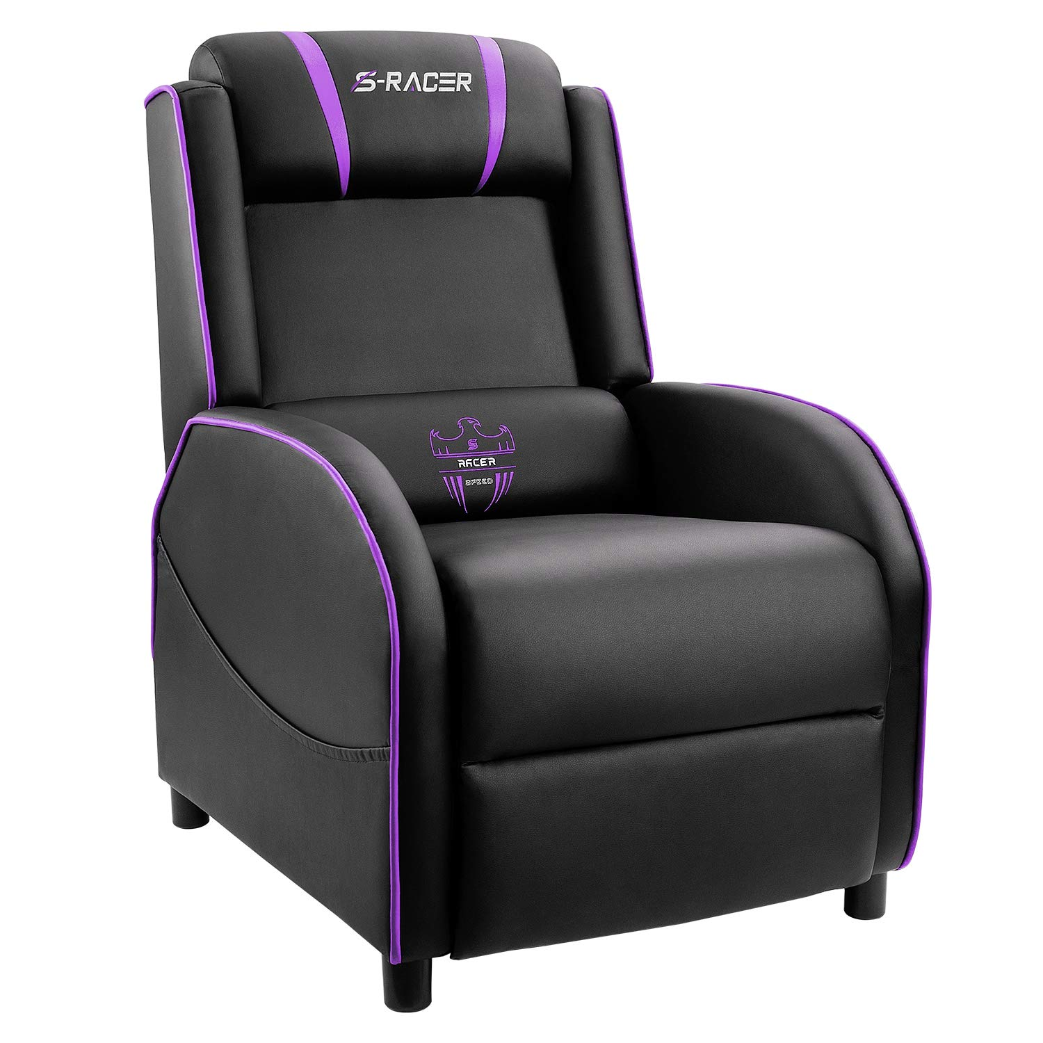 Strange Homall Gaming Recliner Chair Single Living Room Sofa Recliner Pu Leather Recliner Seat Home Theater Seating Purple Theyellowbook Wood Chair Design Ideas Theyellowbookinfo