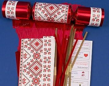 8 jumbo red foil scandinavian christmas make fill your own 8 jumbo red foil scandinavian christmas make fill your own crackers kit solutioingenieria Choice Image