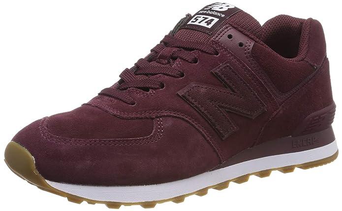 New Balance 574v2 Sneakers Herren Weinrot/Weiß