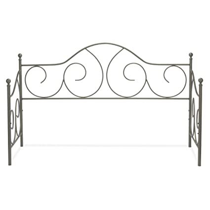 Stupendous Leggett Platt Caroline Metal Daybed Frame With Gently Sloping Back And Side Panels Flint Finish Twin Home Interior And Landscaping Ologienasavecom