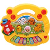 SuperToy(TM) Baby farm animal piano with real animal sound, piano sound ,LED flash Light ( Design & Color As Per Availability )