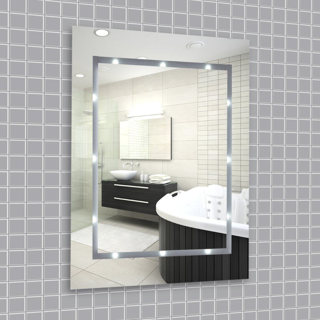 battery powered led bathroom mirror | My Web Value