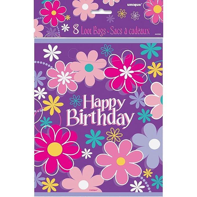 Partido Ênico 18 cm Platos Cumpleaños Fiesta Flor (paquete ...