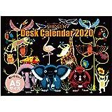 ユメキロック 卓上カレンダー 2020年 1月始まり アフリカンスマイル デスクカレンダー