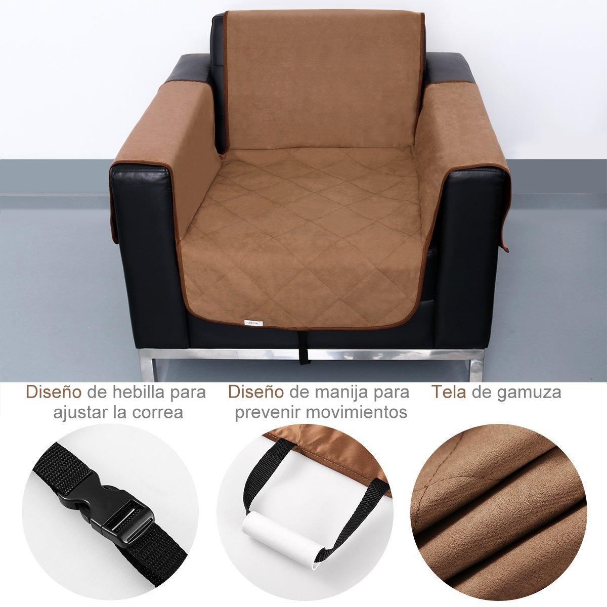 UEETEK Funda deslizante para sofá de un asiento,Impermeable Mascotas Funda protectora para sofá de gato para silla de perro Protección de muebles ...