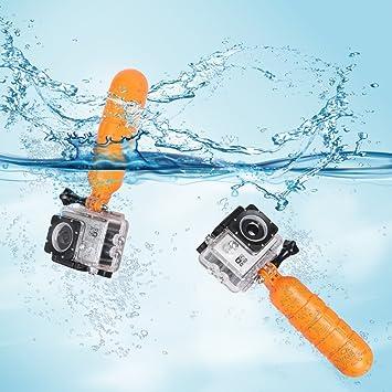 TELESIN Granada en forma de flotador flotante de mano para accesorios Gopro Hero 6/5/4/3 + / 3: Amazon.es: Electrónica