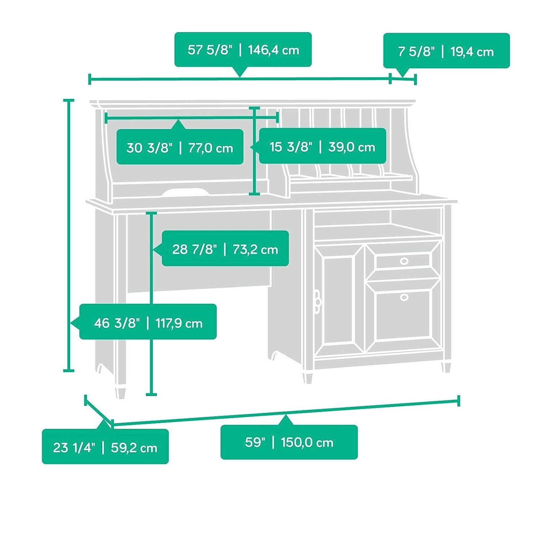 Amazon.com: Sauder 419401 Computer Desk with Hutch, 59.055\