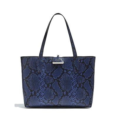 Guess Bobbi Inside Out Blue Python Black Shopper HWBP64