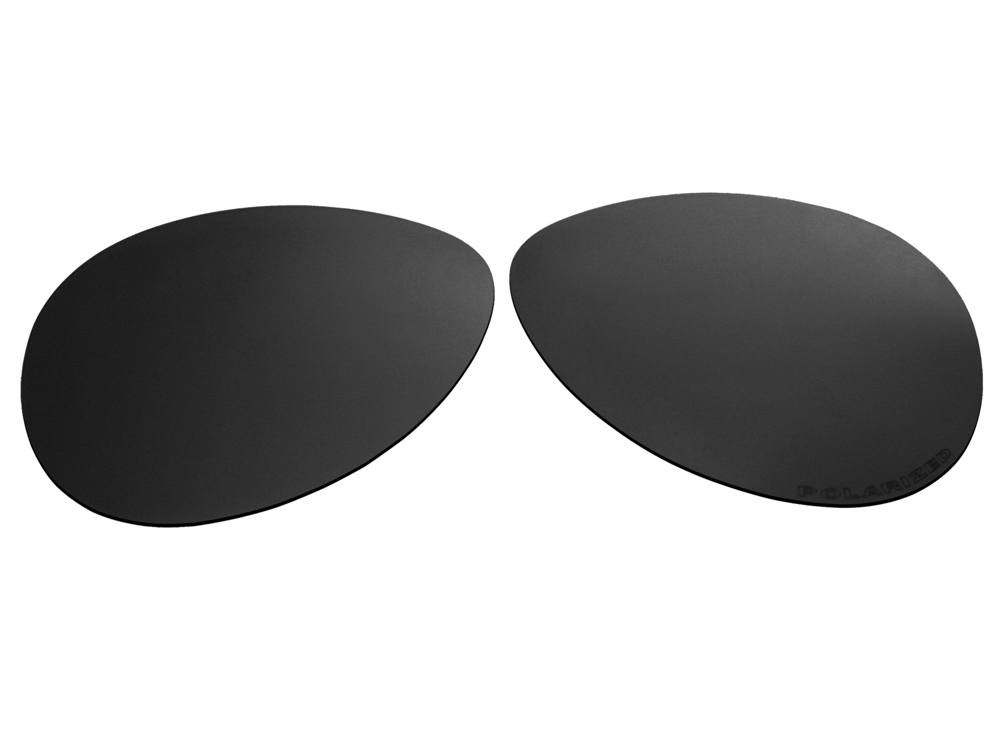 Polarized Replacement Sunglasses Lenses for Oakley Caveat Aviator with Excellent UV Protection for Women(Black)
