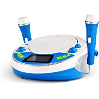 X4-TECH Bobby Joey JamBox - Kinder CD Player mit USB Bluetooth MP3 Sticker blau