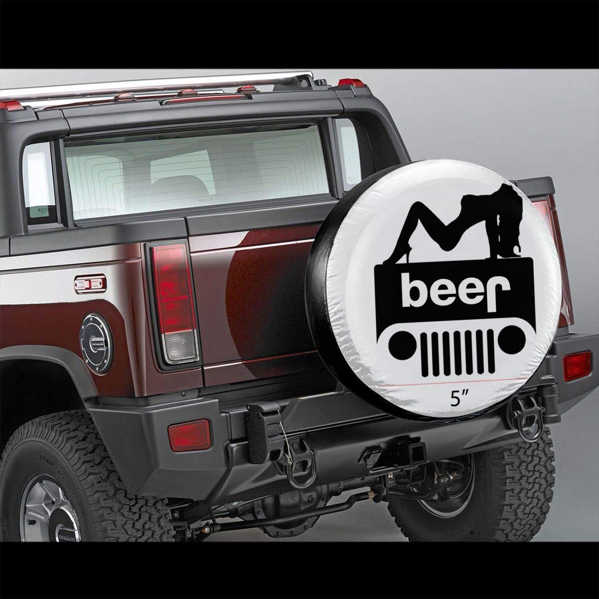 Spare Wheel Covers WBinHua Couvre-Roue de Secours Jeep-Wrangler Logo 4X4 Spare Wheel Tire Cover Vinyl Cover with Elastic Hem-Durable Design Keeps Dirt