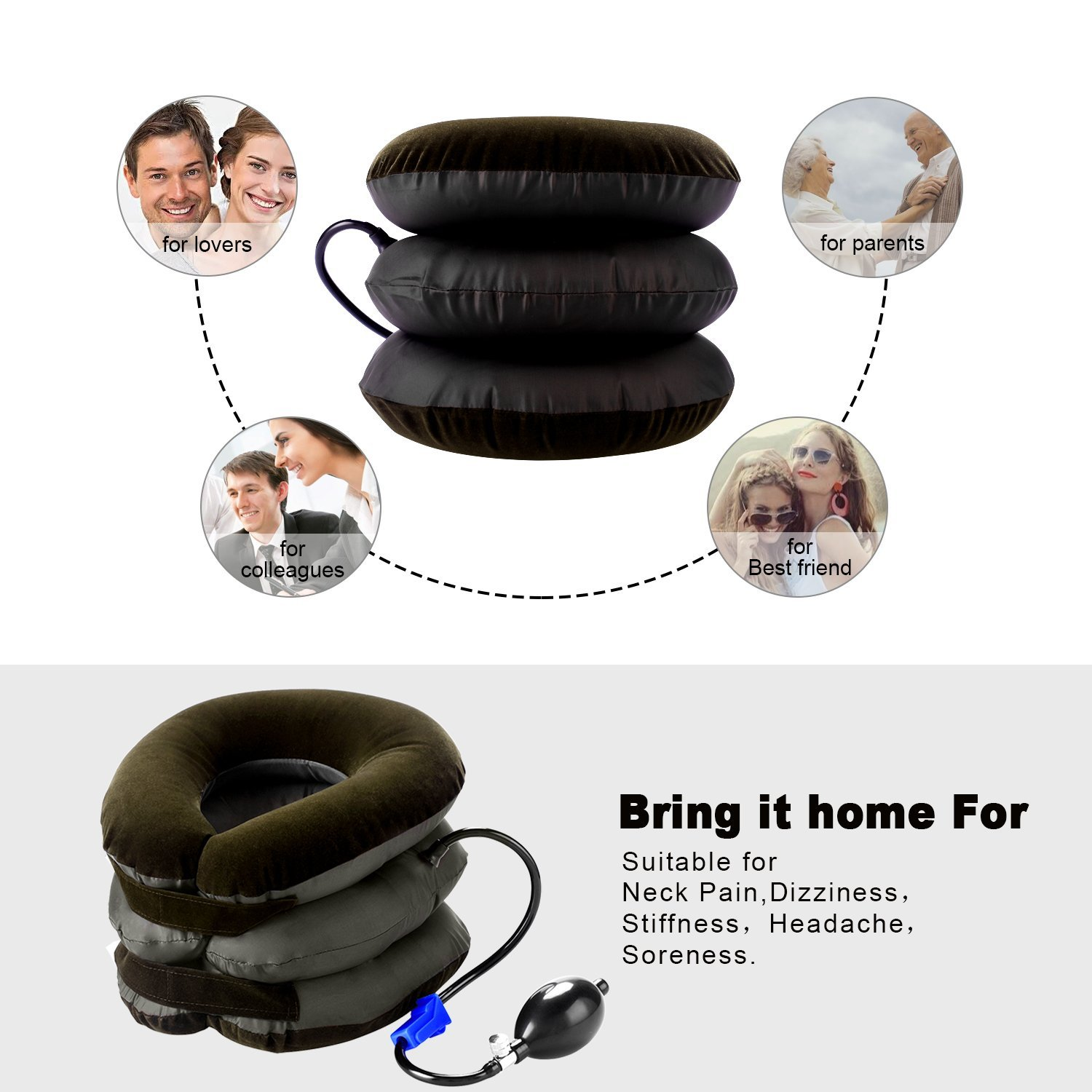 P PURNEAT Cervical Neck Traction Device – Instant Pain Relief for Chronic Neck and Shoulder Pain – Effective Alternate Pain Relieving by P PURNEAT (Image #6)