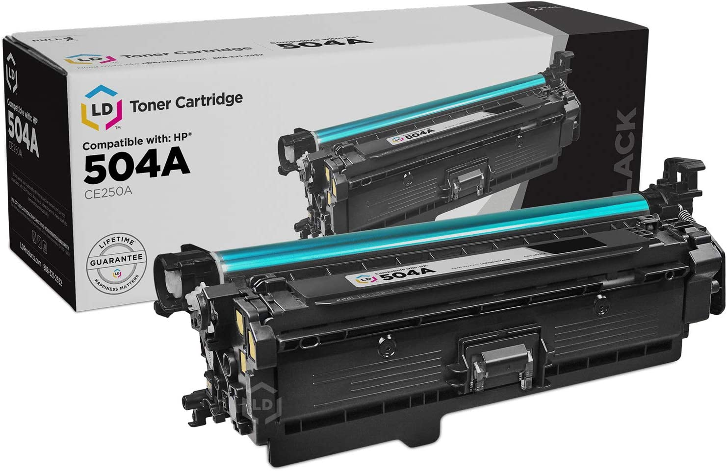 LD Remanufactured Toner Cartridge Replacement for HP 504A CE250A (Black)