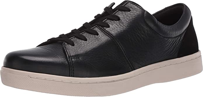 Clarks Men/'s 26148147 Kitna Vibe Black Leather Lace Up Casual Sneaker Shoes