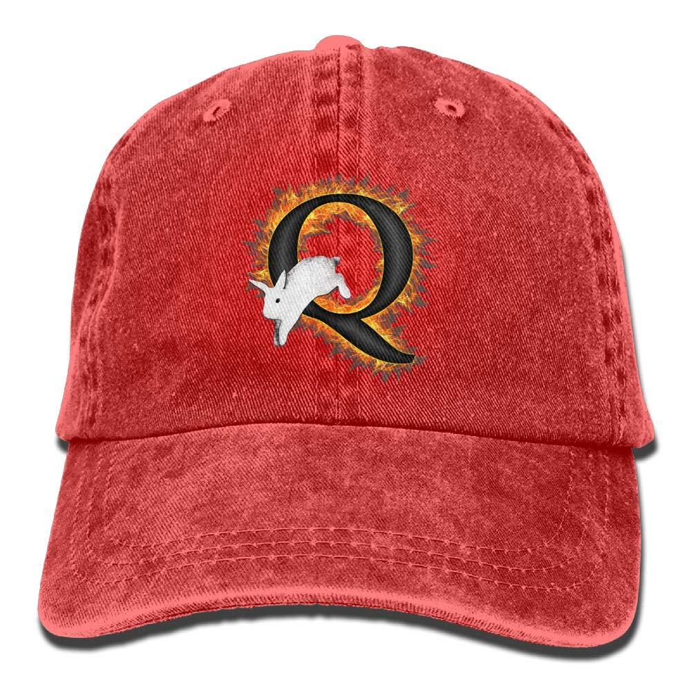 Q White Rabbit AwarenessFashionBaseball Cap Adult Unisex Adjustable Hat