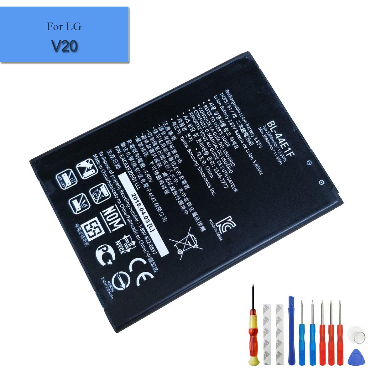 for LG V20 H910 H918 LS997 US996 VS995 New Replacement Battery BL-44E1F 3200mAh 3.85V + Tools E-yiiviil