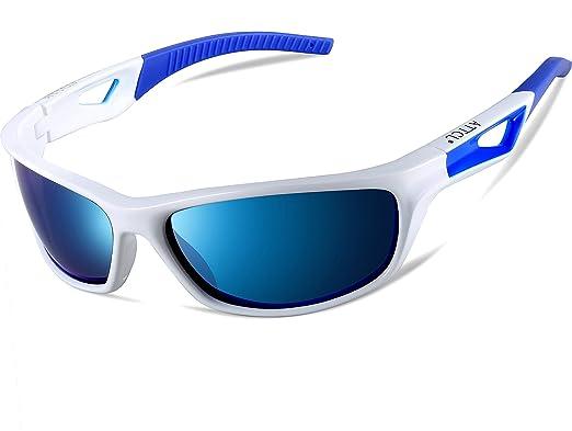 ATTCL Herren Sonnenbrille Polarisierter Sports Fahren Golf Laufen Superleichtes Rahmen 306 Blue 9KLupA