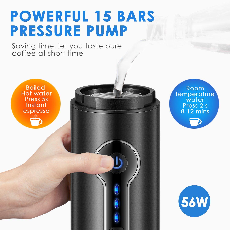Amazon.com: Aicok - Máquina de café portátil eléctrica para ...