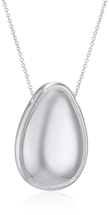Fiorelli Silver Women Silver Pendant Necklace of Length 61cm P4509 X77t2R