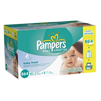 Pampers Baby Fresh Wipes 12x Box with Tub (1728 Count with tubs)