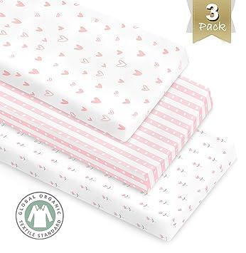Amazon.com: Pack de 3 fundas para cambiador de algodón ...