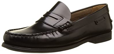 Sebago Plaza II, Mocasines para Mujer, Negro (Black Leather), 35.5 EU