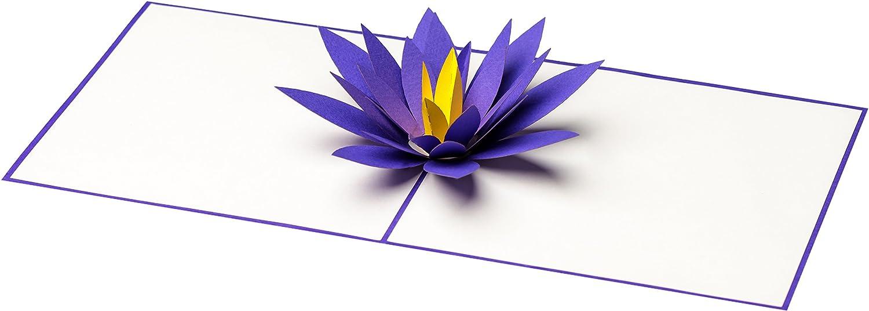 Carte De Voeux Lotus 3d Pop Up Fait Main Fleur Comme Un